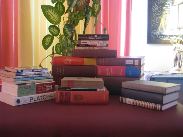 Picture of a pile of used books