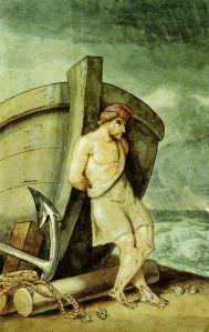 Odysseus Yearns for Ithaca.  Johann Heinrich Wilhelm Tischbein [Public domain], via Wikimedia Commons