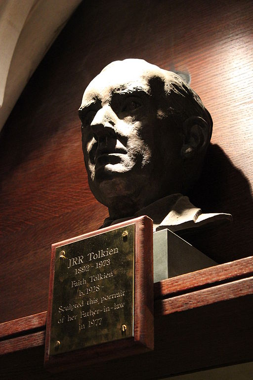 Tolkien's Bust at Exeter College