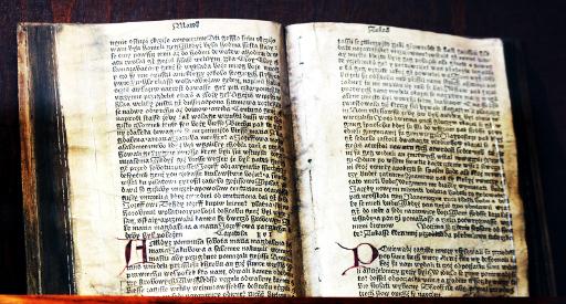 hand-letered manuscript bible