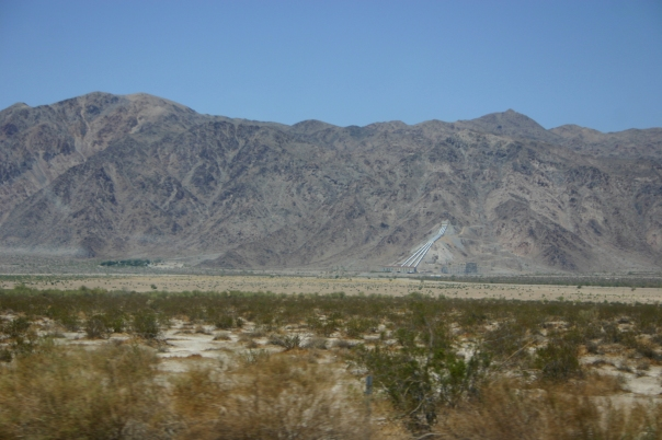 A Natural Southern California Landscape with an Aqueduct Visible in the Distance