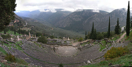 Amphitheater at Delphi [user Luarvick, CC BY-SA 3.0 via Wikimedia Commons]