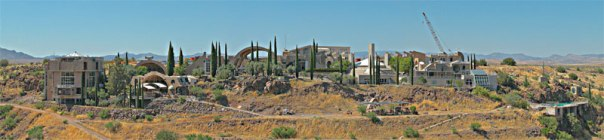 Arcosanti, a Real-Life Attempt to Explore Arcology Technology in the American Southwest [photo by Chris Ohlinger, General Manager of Cosanti Originals, Inc]