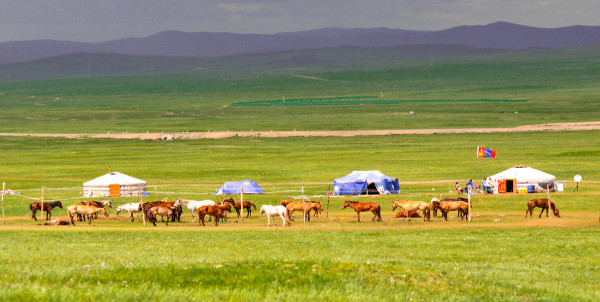 Nomad Camp on the Central Asian Plain
