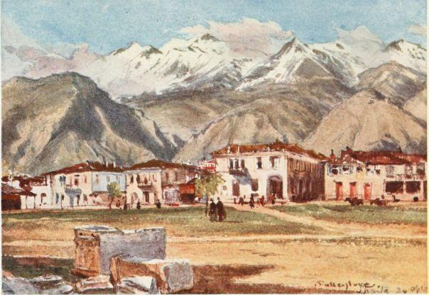 Sparta and Mount Taÿgetus (1906), John Fulleylove [public domain via Project Gutenberg]