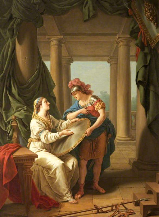 The Spartan Mother, Louis-Jean-François Lagrenée [public domain via Wikimedia]