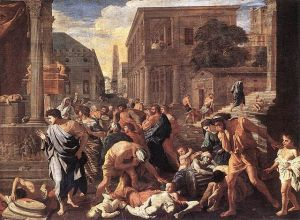 The Plague at Ashdod, Nicolas Poussin [public domain via Wikimedia]