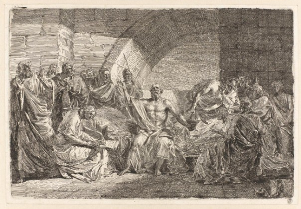 Socrates Dictates his Will, Josef Abel, 1800 [public domain via Rijksmuseum]