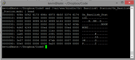 Screen Shot of Hex Dump